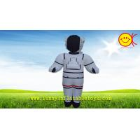 Cheap Nylon White Advertising Inflatable Space Man With CMYK Silk Printing for sale