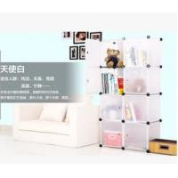 Cheap 8 doors DIY PP white cubes book cabinet book shelf for sale