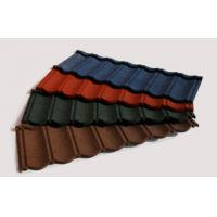 Heat Resistant Stone Coated Metal Roofing Tile Brick Red Roof Tiles