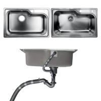 Cheap Undermount Kitchen Bathroom Sinks With Single Bowl Brushed Metal Material for sale