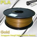 Cheap 1.75mm /  3.0mm Gold PLA 3d Printer Filament 100% biodegradable for sale