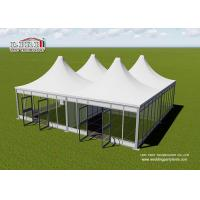 Buy cheap 5x5m Small Modular Tent For Receiption With PVC Walls / High Peak Roof from wholesalers