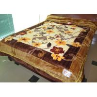 Cheap Double Ply Breathable 100% Polyester Blanket Printed With Artistic Carvings for sale
