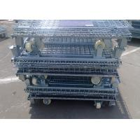 Buy cheap High Quantity of Cold Steel Foldable Wire Mesh Cages For Warehouse Storage from wholesalers