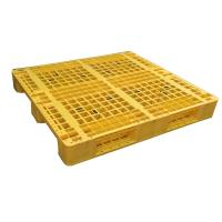 Cheap Three Runner Single Faced Edge Stackable Plastic Euro Pallet Price for sale