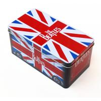 Cheap Beatles style gift Rectangular Tin Box / tin cantainers 4c offset printing for sale