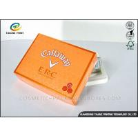 Cheap Foldable Orange Cardboard Gift Boxes For Clothes / Candy / Chocolate for sale