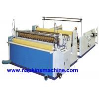 Cheap Nonwoven Paper Roll / Jumbo Roll Slitting Machine To Rewind And Slit Toilet Paper for sale