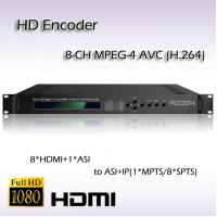 Cheap MPEG-4 AVC/H.264 IPTV HD Encoder Eight-Channel HDMI Video Input ASI&UDP/IP Output REH2208 for sale