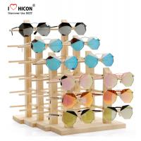 Cheap Amazing Clients Wooden Sunglasses Display Stand Counter Top Advertising Equipment for sale