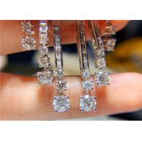Cheap High End Personalized 18K White Gold Diamond Earrings For Women for sale