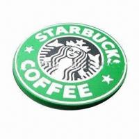 Cheap PVC coaster, customized colors and logos are accepted for sale