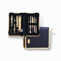 Cheap Manicure Set with Butterfly Zipper Pocket, Made of Stainless Steel, OEM Orders are Welcome for sale