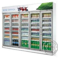 Cheap OP-A404 Digital Temperature Display Five Glass Doors CFC Free Supermarket Fridge for sale