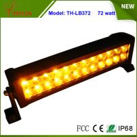 Cheap Amber and White Color 13.5 inch Epistar LED Strobe Light Bar 72W Flash Lamp for Sale for sale