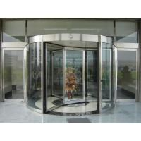 Cheap Automatic Rotating Doors with Stainless Steel Frame for Hotel Entrances for sale