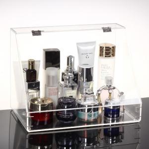 China Plexiglass Makeup Display Stand Clear Acrylic Storage Box Plastic Organizer on sale