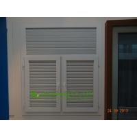 China White Color UPVC Shutter casement window For Residential Apartment,Vinyl Louvers Window on sale