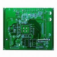 Cheap 4-layer PCB with HASL lead-free finish, green solder mask, industrial control, 2.0mm board thickness for sale