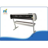 Cheap 1.35 Meters Vinyl Cutting Plotter Machine With Double Cutter Position / Pressing Strips for sale
