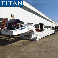 Cheap Removable Gooseneck Trailers for Sale 120t Lowboy Equipment Trailers Detachable Gooseneck Trailer for sale