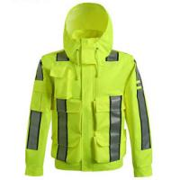 Cheap Waterproof Outdoor Safety Work Clothes Reflective Raincoat for high speed road for sale