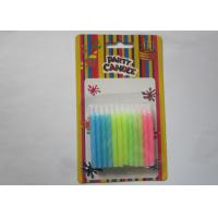 Cheap Attractive Bright Colorful Birthday Candles Non Toxic Spiral Decoration for sale