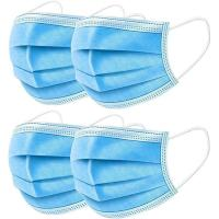 Cheap Breathable 3 Ply Disposable Face Mask For Anti Droplet / Particulate / Bacteria for sale