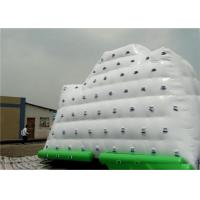 Cheap White Inflatable Water Sports , 3 Sides Inflatable Iceberg For Climbing In Beach Park And Swimming Pool for sale