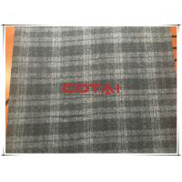 Cheap Black and Gray One side Thin Melton 7cm Tartan Wool Fabric , Width 150cm for sale