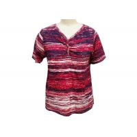 Quality Irregularly Shape Ladies Striped T Shirt , Women'S Collared T Shirts Quick Dry wholesale