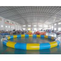 Cheap Round Inflatable PVC Swimming Pool , 3.5M*3.5M PVC Inflatable Pool For Beaches for sale