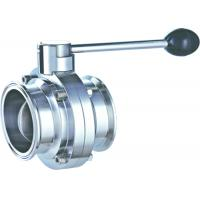 China Manual 1.5 Inch Butterfly Valve Stainless Steel  Clamped  Pull 3 ~ 4 Handle Position on sale