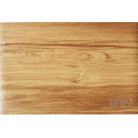 Quality Membrane Press Wood Grain Laminate Roll , Cabinets Wood Effect Vinyl Film wholesale
