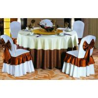 China Polyester Table Cover/jacquard Table Cloth on sale