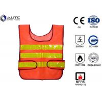 Cheap Glistening Safety Reflective Jacket , Security Safety Vest Warning Loop Closed for sale