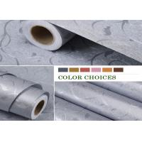 Cheap Environmental - friendly PVC Self Adhesive Wallpaper , Gray Color 60cm * 50m Per Roll for sale