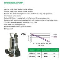 Cheap SUBMERSIBLE PUMP SSD370 SSD550 for sale
