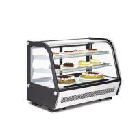 China Mini Countertop Refrigerated Bakery Display Case Curved Glass Digital Thermostat on sale