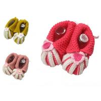 China hand infant crochet booties on sale