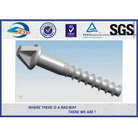 Quality Galvanized Surface Railway Sleeper Screws Speical Head 35# ISO Approval wholesale