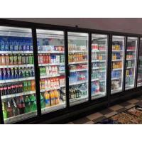 Cheap Remote Multideck Chillers With Doors , Superstore Glass Door Fridge Freezer for sale