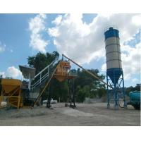 China Model HZS35 Stationary Fixed Concrete Batching Plant Electric Power With 35m3/H Capacity on sale