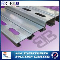 Cheap Cee Shape Purlin Roll Forming Machine For Roof Panel 11m X 1.3m X 1.35m Size for sale