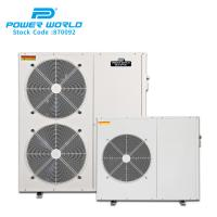 Cheap Power World Automatic Electric Hot Water Heater cooling heating DC inverter hot water heat pump system for sale