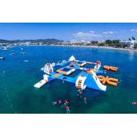 Cheap Giant Adult Giant Blue inflatable sport park For Wake Island ,Water sports equipment For Ocean for sale