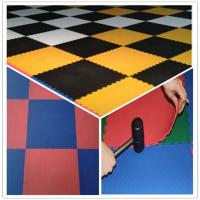 Cheap 3W Oil Resistance Plastic PVC Click Interlocking Flooring Tiles for sale
