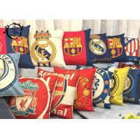China Real Madrid  Barcelona Decorative Cushions Pillows , Multiple Soccer Teams Bed Pillows on sale