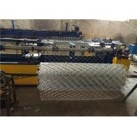 Cheap High Zinc Coated 200g / SQM Galvanized Chain Link Fencing 50mm for Residential for sale