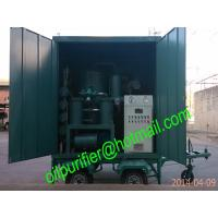 China Oil Purifier ! Mobile type Double-stage vacuum Transformer oil filtration plant/ vacuum dehydration/ degasification unit on sale